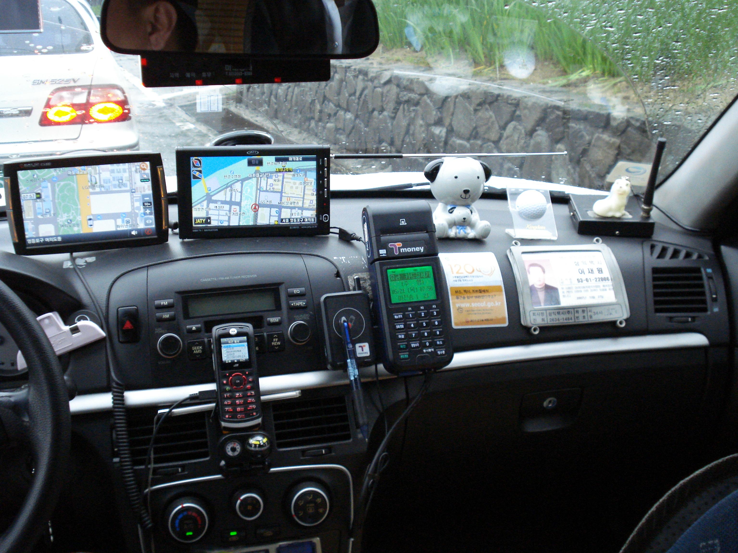 Taxi in Seoul 2009: over vooruitlopen gesproken...